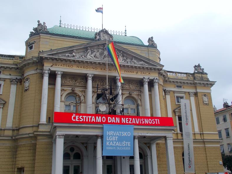 Čestitali Dan neovisnosti: Hrvatsko LGBT kazalište Ivana