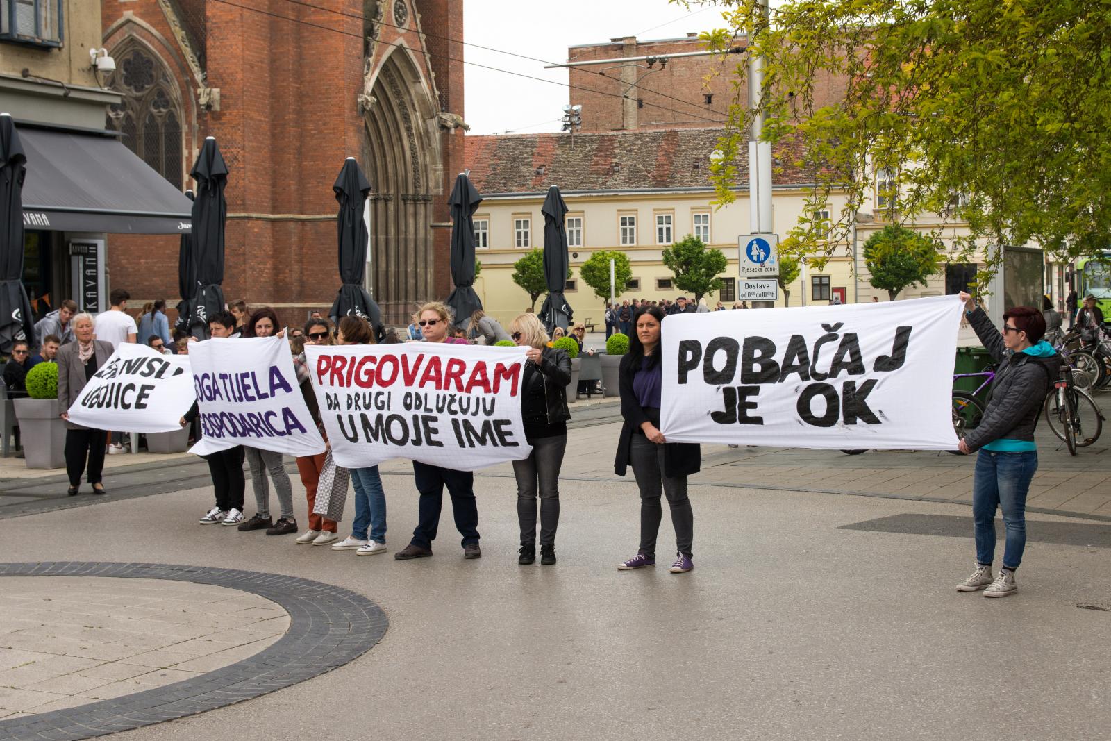 Žene nisu ubojice - grupa žena protiv tzv. Hoda za život u Osijeku