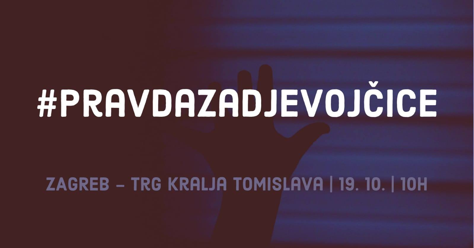 """Prosvjed """"Pravda za djevojčice!"""" - Zagreb"""