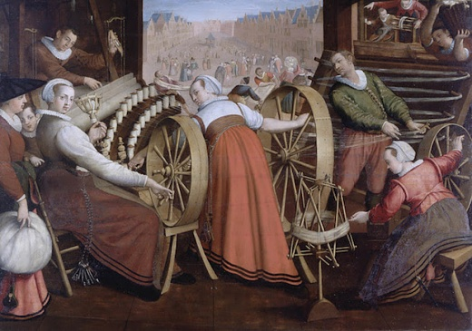Spinning, Warping and Weaving the Wool (1594-1596)